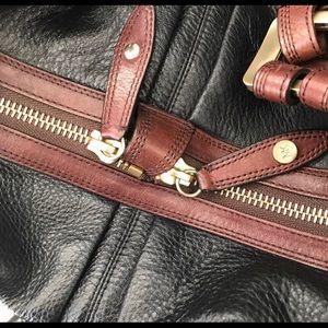Michael Kors Bags - MK Vintage Satchel Brown & Black Pebble Leather